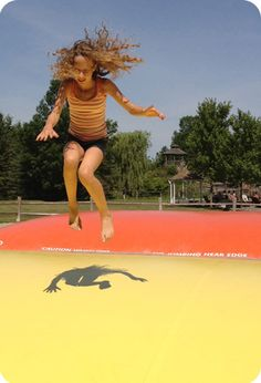 The jumping pillows at Saunders Farm! One of our favourite things in Ottawa