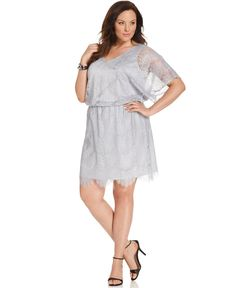 Alfani Plus Size Dress, Short-Sleeve Lace V-Neck - Plus Size Dresses - Plus Sizes - Macy's OPTION 3 FOR WEDDING