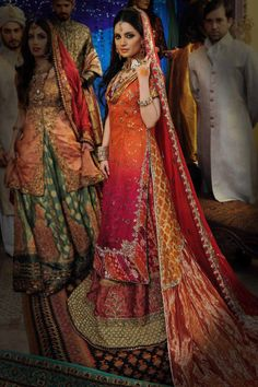 Designer: Nilofer Shahid by Khawar Riaz Pakistani Models, Pakistani Couture, Pakistani Bridal Wear, Pakistani Wedding Dresses, Punjabi Wedding, Indian Wedding Wear, Indian Bridal, Desi Wedding, Wedding Ideas