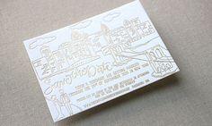 Letterpress Stationery Edit   HOORAY! Mag   Stitch Press   Gold Foil   Invitation Inspiration   Save The Date  