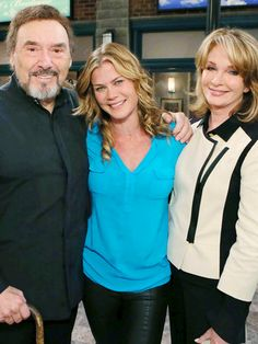 Joseph Mascolo, Alison Sweeney and Deidre Hall behind the scenes Days of our Lives Soap Opera Stars, Soap Stars, Drake Hogestyn, Deidre Hall, Alison Sweeney, Life Cast, Tv Soap, Good Wife, Days Of Our Lives