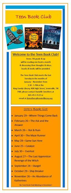 Teen author clubs