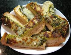 Pesto Garlic Bread....