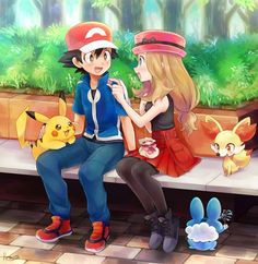 Ash and Serena.... i so hope that Iris comes in the second season!!!