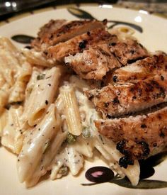 Chicken with penne & white sauce