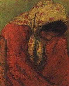 Isidre Nonell (1872–1911)  -: Gitana, o Consuelo -1903,oil on canvas,65 × 50 cm (25.6 × 19.7 in),Private collection, Barcelona