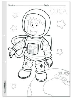 free printable astronaut coloring page crafts and worksheets for preschooltoddler and kindergarten - Space Coloring Pages Toddlers