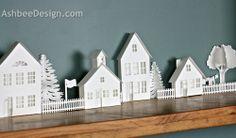 Ashbee Proyectos de Diseño Silueta: 3D Ledge Village - Antiguo Granero