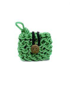 Hand knitted roping Mini Clutch $189.00 www.knotsandknits.com