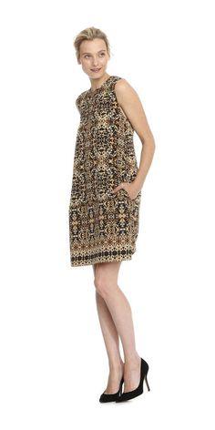 Print Sleeveless Sheath Dress from Joe Fresh. A modern print updates the classic sheath silhouette. Only $29.