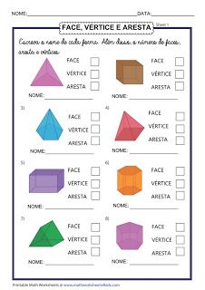 Education Discover Faces Edges and Vertices of Shapes Worksheets Math For Kids Fun Math Math Activities Shapes Activities Math Classroom Kindergarten Math Teaching Math Shapes Worksheets Grade 6 Math Worksheets 3d Shapes Worksheets, 2nd Grade Math Worksheets, Geometry Worksheets, Second Grade Math, First Grade Math, Grade 2, Math Resources, Math Activities, 3d Shapes Activities
