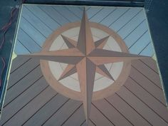 nautical compass design in composite deck Deck Patterns, Wood Patterns, Easy Deck, Cool Deck, Woodworking Projects Diy, Wood Projects, Cabin Decks, Coffee Table To Dining Table, Deck Framing