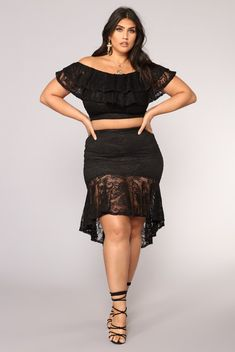 1a030942ba6 Fuel For My Fire Skirt Set - Black