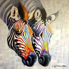 """Studio Paramount schilderij """" Zebra's """""""
