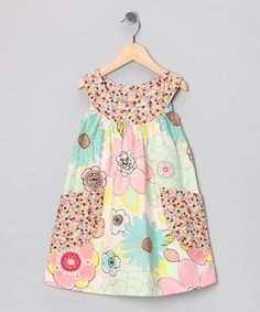 Take a look at this Pink & Blue Pastel Floral Pocket Yoke Dress - Toddler & Girls by SILLY MILLY on #zulily today!  looks easy to make??