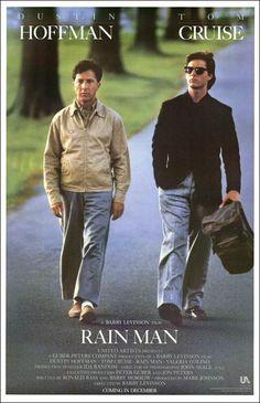 Rain man (1988) EEUU. Dir: Barry Levinson. Drama. Familia. Enfermidade. Road Movie - DVD CINE 1290