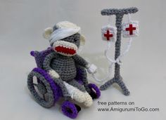 Crochet IV Drip Pole ~ Amigurumi To Go