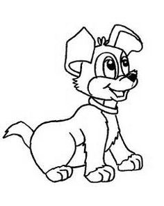 Top 25 Free Printable Dog Coloring Pages Online   Dog, Collection ...