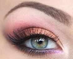 Coral pink purple #makeupideaspink