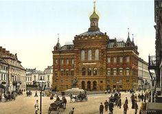 Statue de Copernic devant une église orthodoxe aujourd'hui disparue à Varsovie.