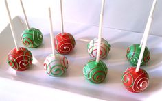 Cake Pops  Christmas Cake Pops Holiday Party by PoppiesCakePops, $21.95
