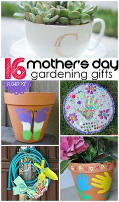 16 Mother's Day gardening gift ideas for kids to make! | CraftyMorning.com