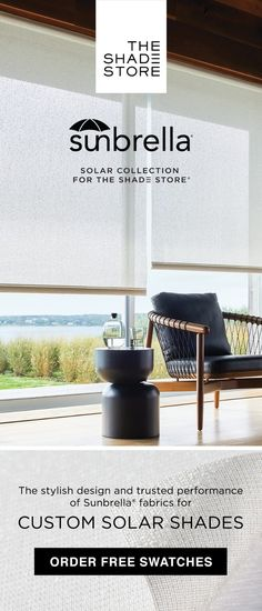 Created with tactile materials to give the shade a highly textured look, the high-performance Sunbrella® Solar materials add softness and warmth to a sleek and modern shade. Window Coverings, Window Treatments, Interior Styling, Interior Design, Solar Shades, Beautiful Curtains, Florida Home, Contemporary Interior, Home Projects