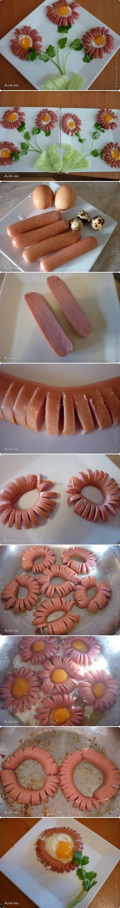 Food Art Plate - Hot Dog Daisy | iCreativeIdeas.com Like Us on Facebook ==> https://www.facebook.com/icreativeideas