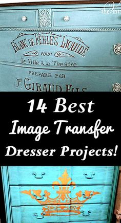 DIY Decorating : 14 Best Image Transfer Dresser Projects found at Graphics Fairy! Furniture Makeover, Diy Furniture, Furniture Projects, Furniture Repair, Furniture Dolly, Furniture Refinishing, Repurposed Furniture, Light Fixture Makeover, Decoupage