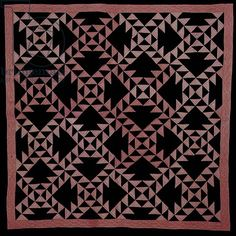 Lady of the Lake, Amish quilt, American, c.1930 (cotton patchwork)