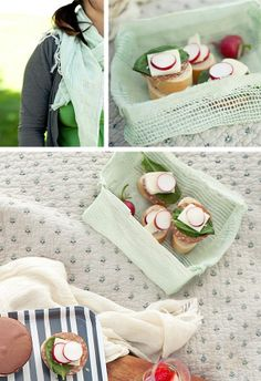 DIY Picnic basket - using a scarf!