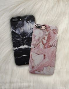 Black + Rose Marble Case Available for iPhone 7 & iPhone 7 Plus from Elemental Cases