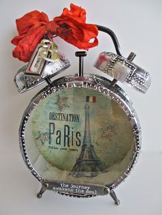 Paula Cheney: idea-ology Assemblage Clock http://simonsaysstampblog.blogspot.com/2013/04/paula-cheney-wows-with-exclusive-ranger.html