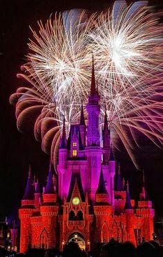 Astonishing Snaps of Fireworks !!! Part - 2 - Fireworks at Cinderella Castle   Walt Disney World Resort
