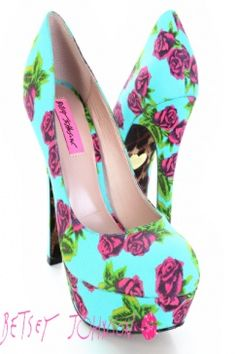 Betsey Johnson Floral, these would be perfect with skinny jeans and a solid colored tank