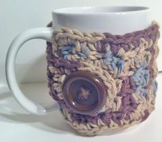 Cup Cozy  Crochet Brown Coffee Tea Cocoa Cup by ValuableCr8tions