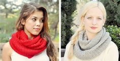 Gorgeous & Thick Knit Infinity Scarves!  9 colors!