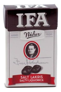 NIDAR IFA SALT LICORICE 34g