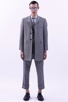 A look from the ThomBrowne Spring 2016 Menswear collection.