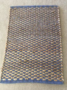 Beautiful Handmade Jute Chindi rug handmade rag rug boho rag
