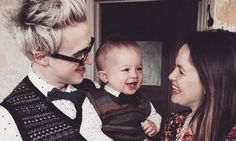 Fab photo of Tom and Giovanna Fletcher with baby Buzz, shared by Hello magazine for Buzz's first birthday. | 13 March 2015 | #McFly #McBusted