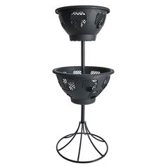 Shop for Wilko 2 Tier Black Easy Blooming Basket at wilko - where we offer a range of home and leisure goods at great prices. Outdoor Plants, Potted Plants, Outdoor Gardens, Terracotta Plant Pots, Plastic Plant Pots, Garden Planters, Planter Pots, Barrel Planter, Plant Basket