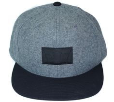 Supra Icon Snapback  Grey Black Skate Hats 17eb45206320