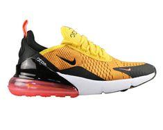 low priced 5b603 78fff Men s Nike Air Max 270 Flyknit Shoes Bold Black Orange UK Trainers Sale  Orange Uk