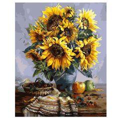 SunFlower Bouquet #OilPaintingDIY