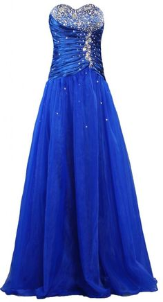 ANTS Women's Royal Beaded Ball Prom Dress Long Evening Gown at Amazon Women's Clothing store:
