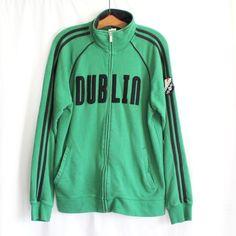 Roma Atletica Dublin Sweatshirt Size Medium Green Zipper Front Track Jacket Mens #RomaAtletica #TrackJacket