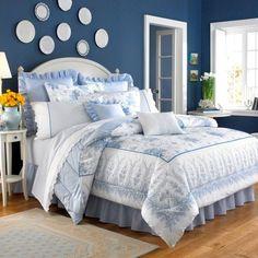 Blue& white bedroom