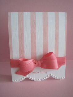 simple one layer baby girl card by Lisa A.