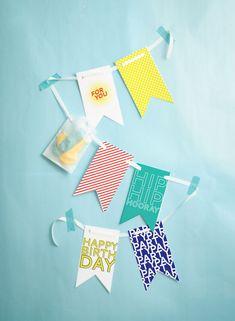 Banner imprimible para fiesta de cumpleaños // Free Printable Happy Birthday Banner!